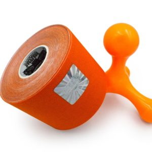 Kinesiology Tape - Synthetic Fibers special for SPORTS - Ultra Long Lasting Joint Support - Orange Color - 5cm x 5m by Rockford Kinesiology