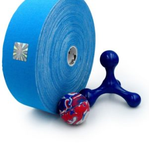Cotton Therapeutic Tape - Blue Color - Big Roll Kinesiology Tape 5cm x 32m by Rockford Kinesiology