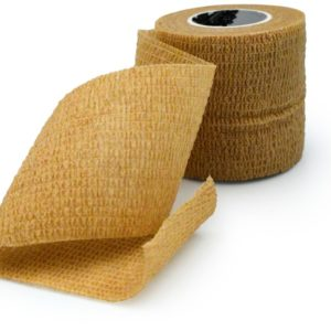 Wrap Sports Tape - Athletic Taping - Special for SPORTS - Self-adhesive Elastic Cohesive Bandage Grip - Brown Color