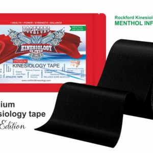 ELIXIR Kinesiology Tape by Rockford Kinesiology – Menthol Infusion Tape 5 cm x 5m - Black Color