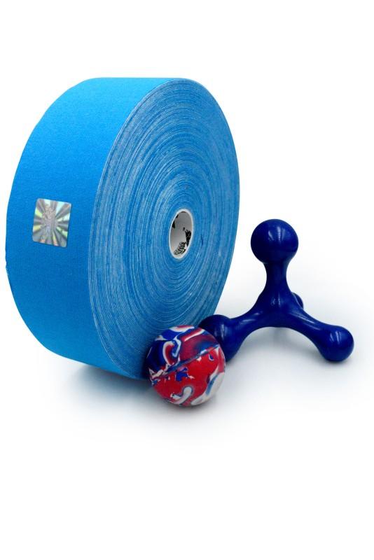 ELIXIR 32m Banda Kinesiologica – Fibre de Bumbac cu Infuzie de Mentol, Albastru